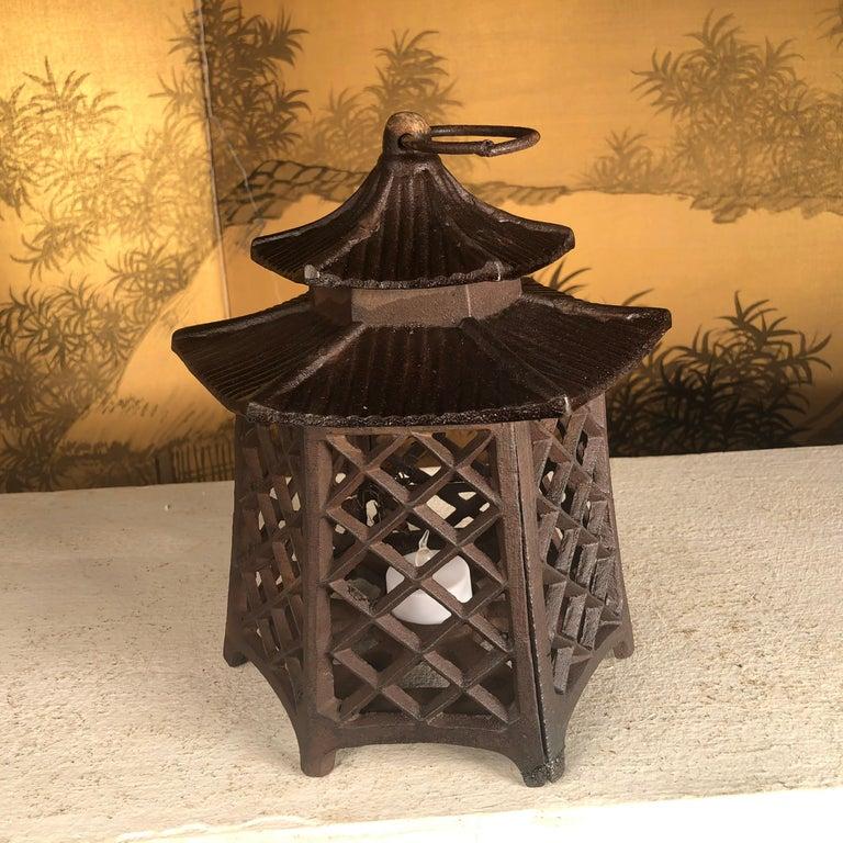 Japanese Antique Hand Cast Lantern