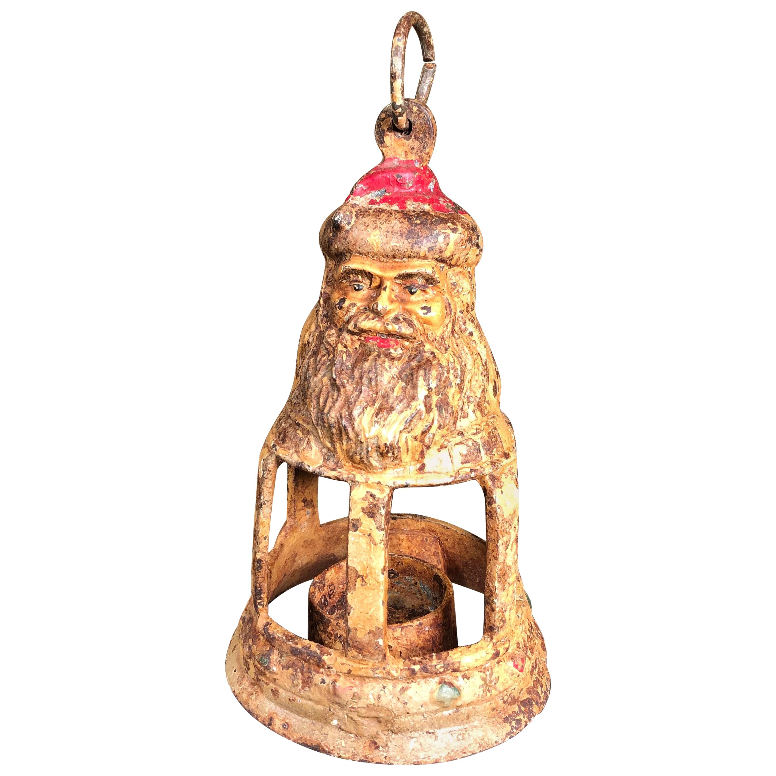 "Japanese Antique Hand Cast "" Santa"" Lantern"