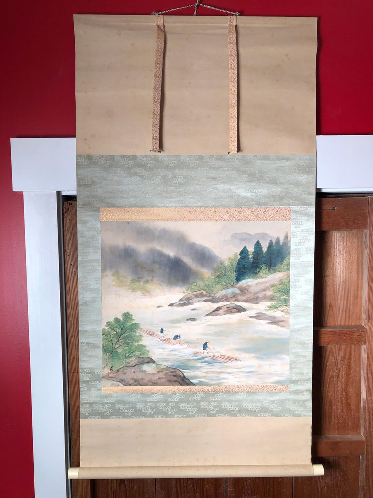 Japanese Set Four Hand Painted Four Seasons Silk Scroll Set , Vibrant Colors For Sale 7