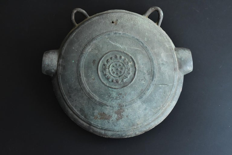 Japanese Antique Handcast Bronze Temple Bell / Edo Period 1822 / Hanging Bell For Sale 10