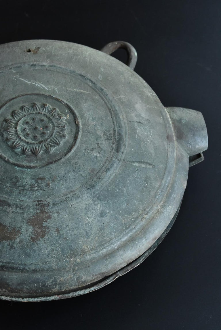 Japanese Antique Handcast Bronze Temple Bell / Edo Period 1822 / Hanging Bell For Sale 11