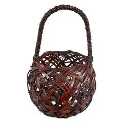 Japanese Antique Ikebana 'Flower Arranging Basket'