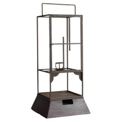 Japanese Antique Iron Candlestick / Lantern / Candle Stand / 19th Century