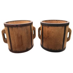 Japanese Antique Pair of Wood Rice Measures