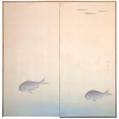 Japanese Peaceful Screen With Serene Fish