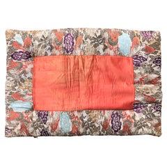 Japanese Antique Plush Silk Buddhist, Prayer Chanting Mat
