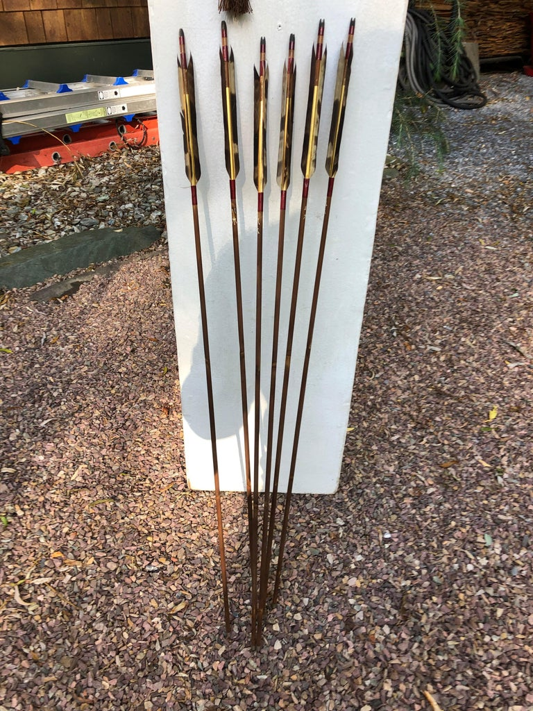 Japanese Antique Samurai Bow, Quiver, Arrows, Complete Boxed Set, Rare Find For Sale 1