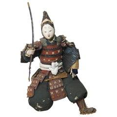 Japanese Antique Samurai Doll, Edo Period, 1790s
