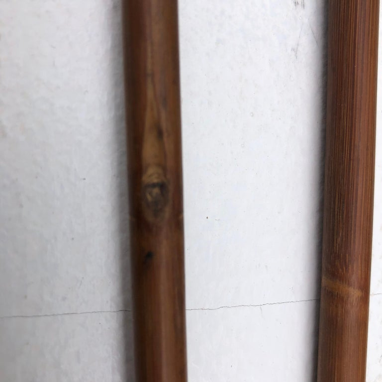 Japanese Antique Samurai Three Carved Bamboo & Iron Arrows, hard to find For Sale 2