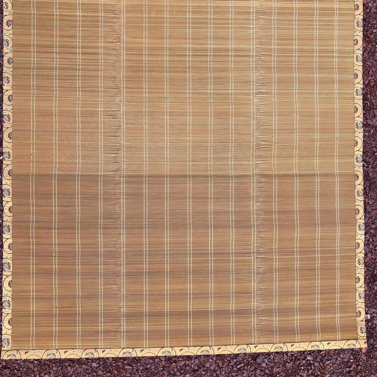 20th Century Japanese Set Four Silk & Bamboo Blinds or Screens