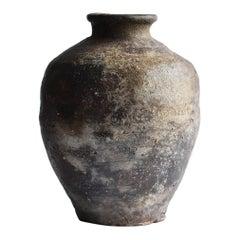"Japanese Antique ""Shigaraki Ware"" Jar / Muromachi Period 1450-1573 / Old Vase"
