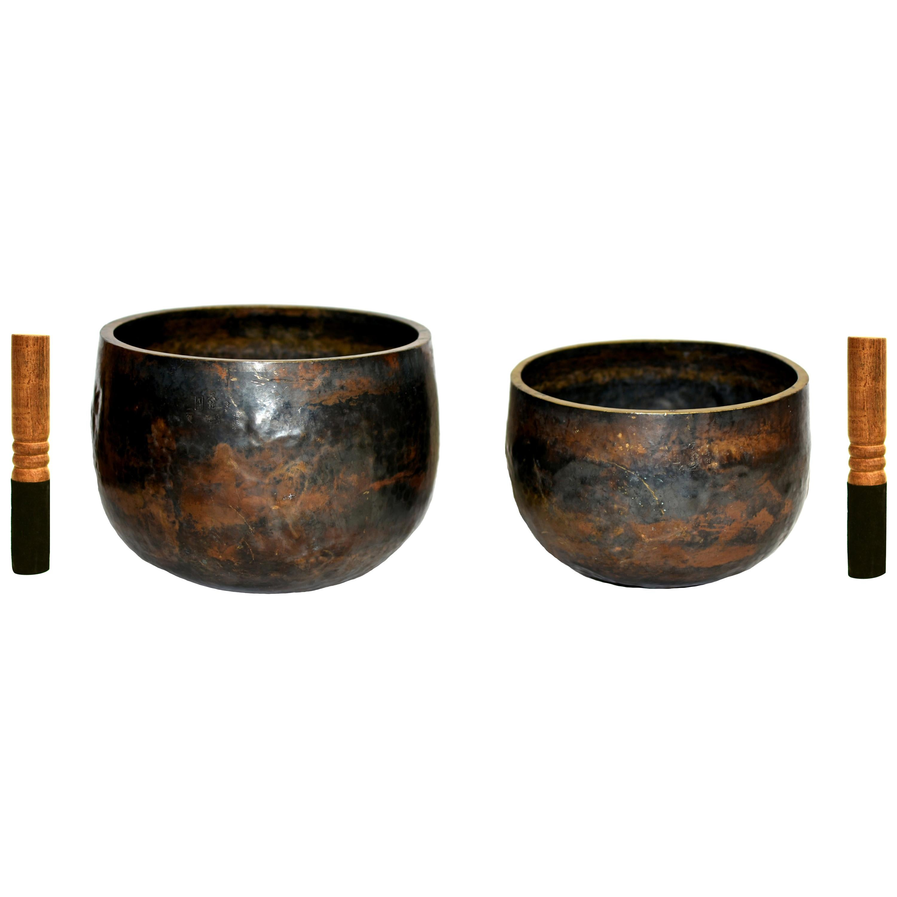 Japanese Antique Singing Bowls Special Edition Signed and Marked