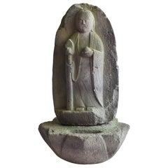 Japanese antique stone Buddha / Buddha statue / garden stone / garden decoration