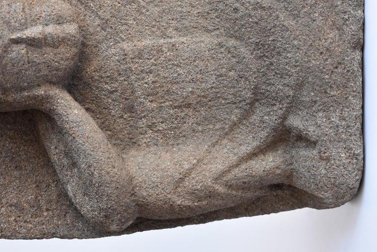 Japanese Antique Stone Buddha Late Edo Period 1750-1850 / Old Buddha Statue 2