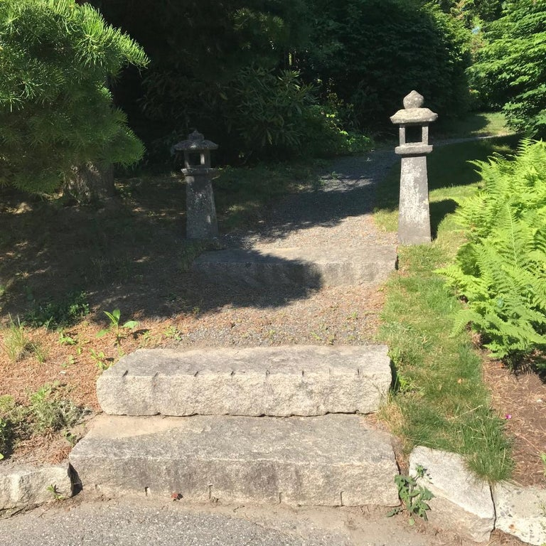 Japanese Antique Stone Lantern In Good Condition For Sale In Shelburne, VT