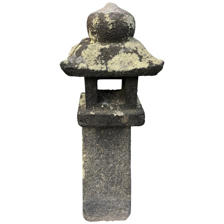 "Japanese Antique Stone ""Pathway Lantern"", 100 Years Old For Sale"