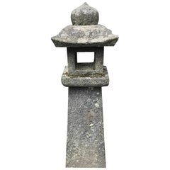 "Japanese Antique Stone ""Pathway Lantern"", 19th Century"