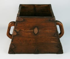 Japanese Antique Storage Container with Handles
