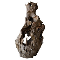 Japanese Antique Wooden Object/Natural Wood Figurine Wabisabi Art Sculpture