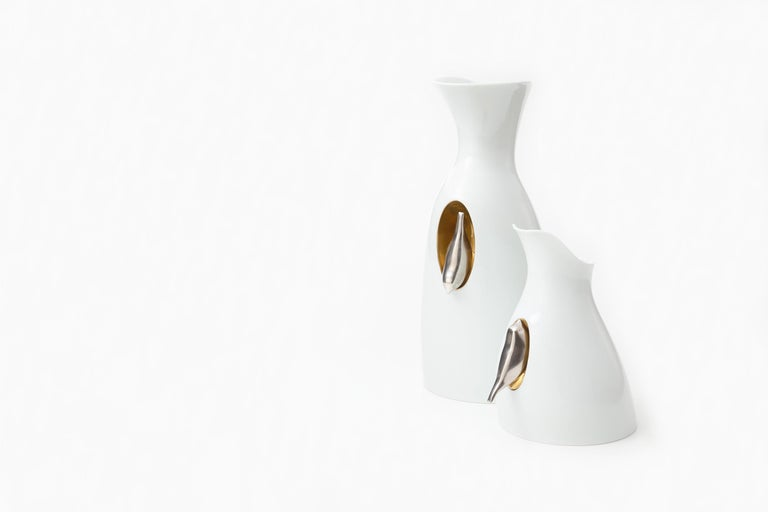 Japanese Arita Porcelain Carafe 'InVersi S' In New Condition For Sale In Milan, IT