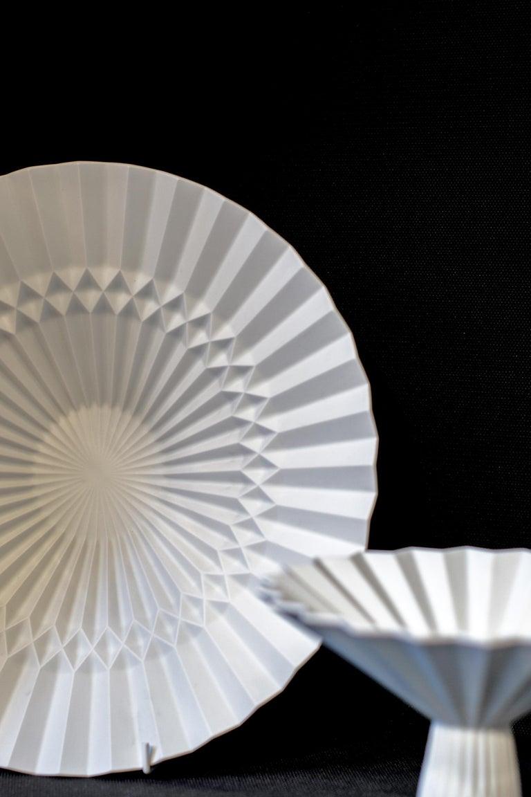 Japanese Arita Porcelain Tray 'Pliage' 1