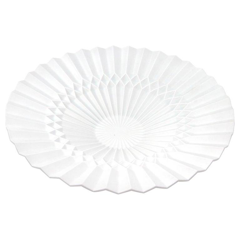 Japanese Arita Porcelain Tray 'Pliage'