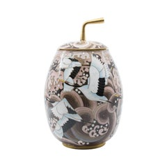 Japanese Art Deco Cloisonné Covered Jar, circa 1935