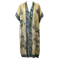 Japanese Art Deco Silk Pongee Loungewear