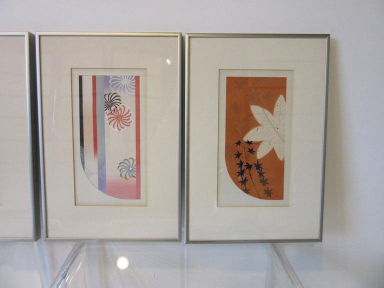 Japanese Art Deco Styled Woodblock Prints by Jun Hisatomi & Tamaki Yoshida In Good Condition For Sale In Cincinnati, OH
