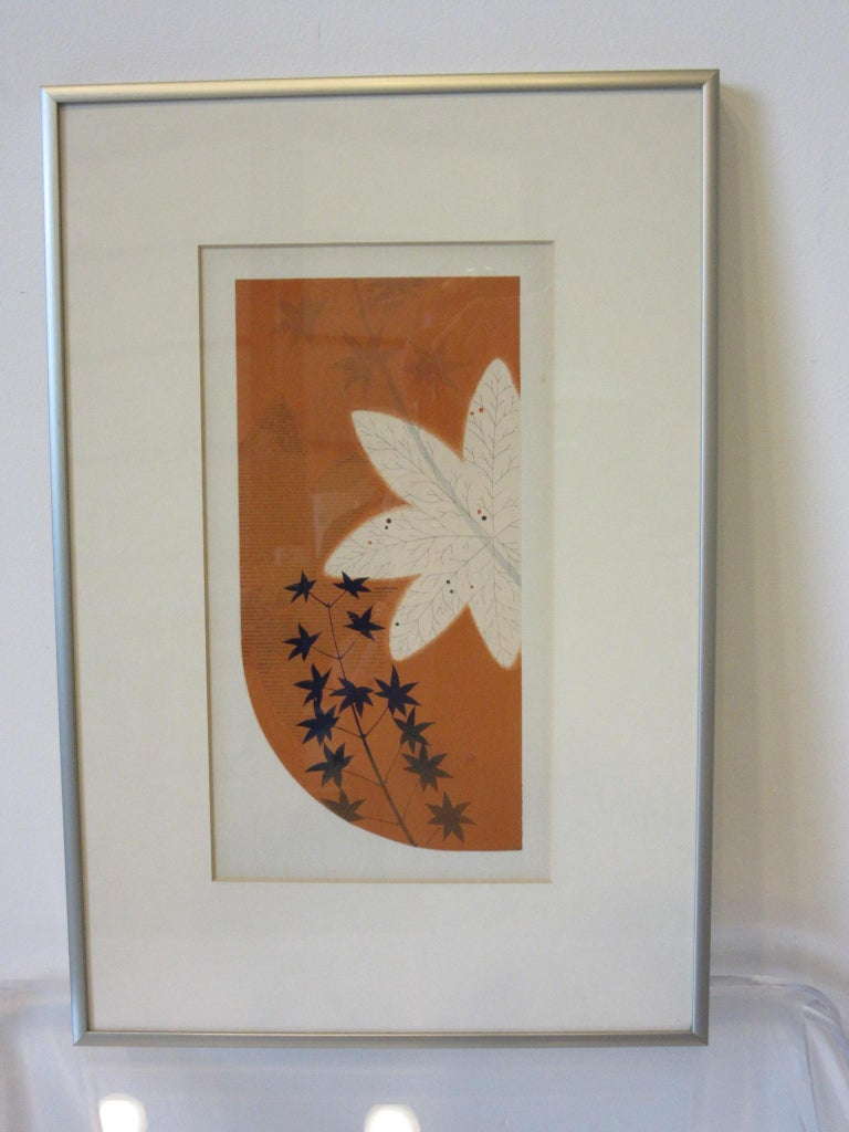 Paper Japanese Art Deco Styled Woodblock Prints by Jun Hisatomi & Tamaki Yoshida For Sale