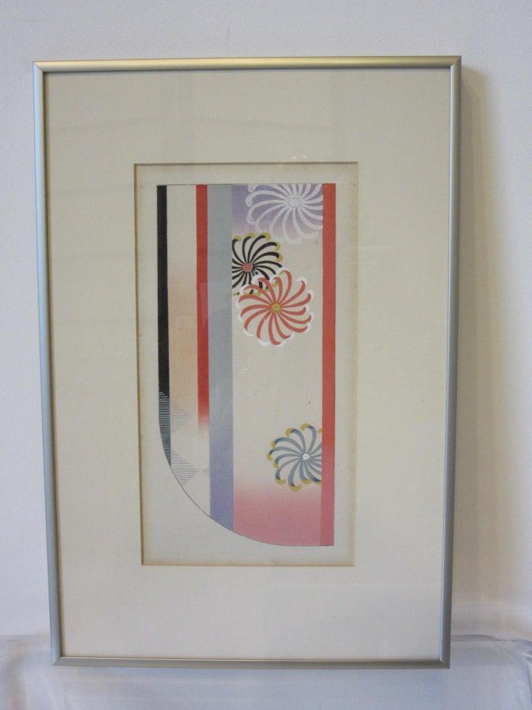 Japanese Art Deco Styled Woodblock Prints by Jun Hisatomi & Tamaki Yoshida For Sale 1