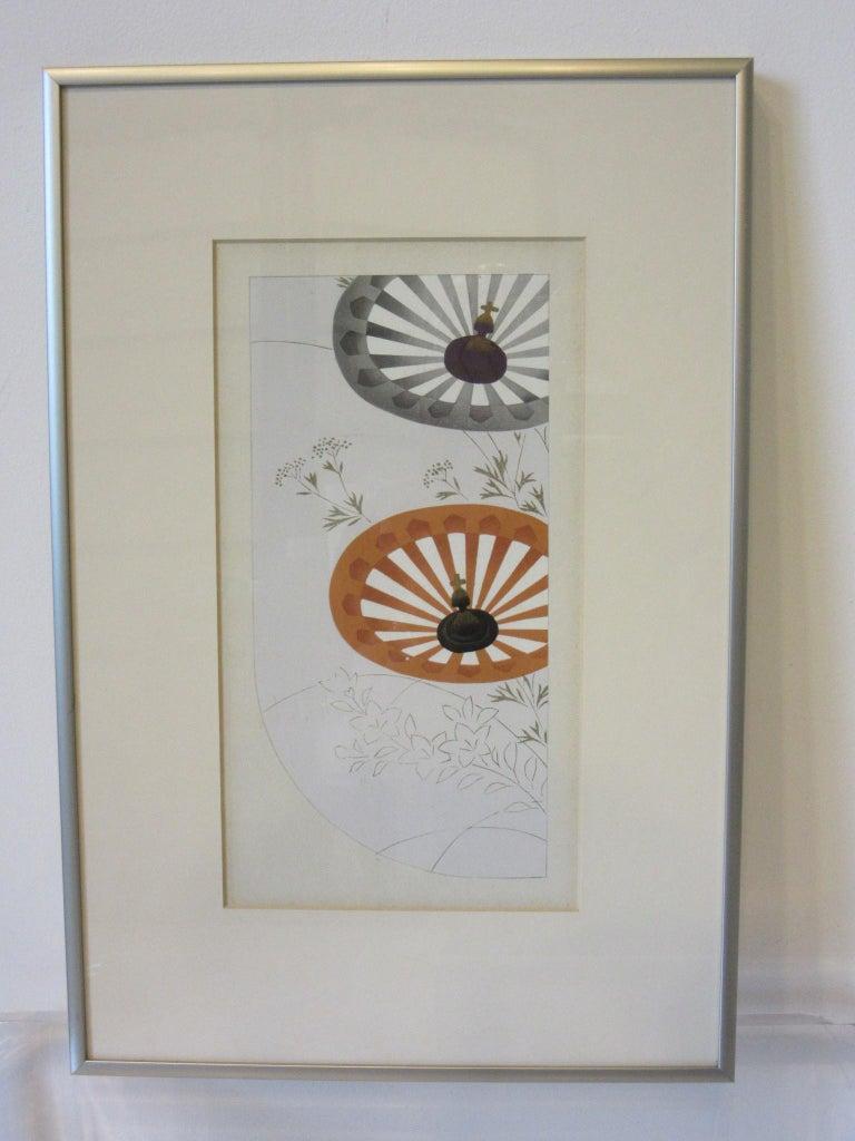 Japanese Art Deco Styled Woodblock Prints by Jun Hisatomi & Tamaki Yoshida For Sale 2