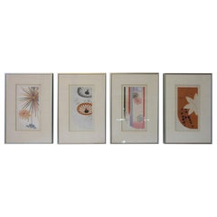 Japanese Art Deco Styled Woodblock Prints by Jun Hisatomi & Tamaki Yoshida