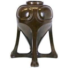 Japanese Art Nouveau Bronze Urn