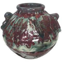Japanese Art Pottery Sumida Gawa Vase