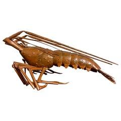 Japanese Articulated Model of a Lobster, by Myochin Muneyuki, Mid 20th Century