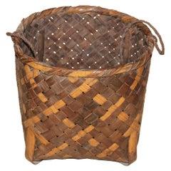 Japanese Bamboo Farmer's Basket