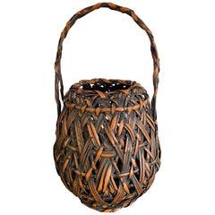 Japanese Bamboo Ikebana Basket by Iizuka Hochiku