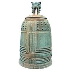 Japanese Big Antique Bronze Bell
