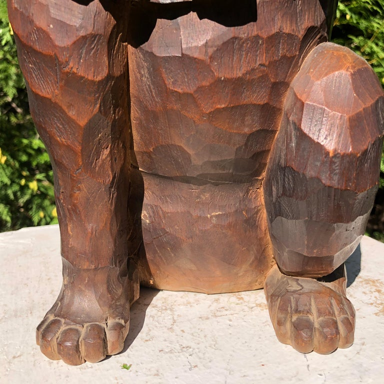 20th Century Japanese Big Fortune Money Cat, Hand Carved and Signed For Sale