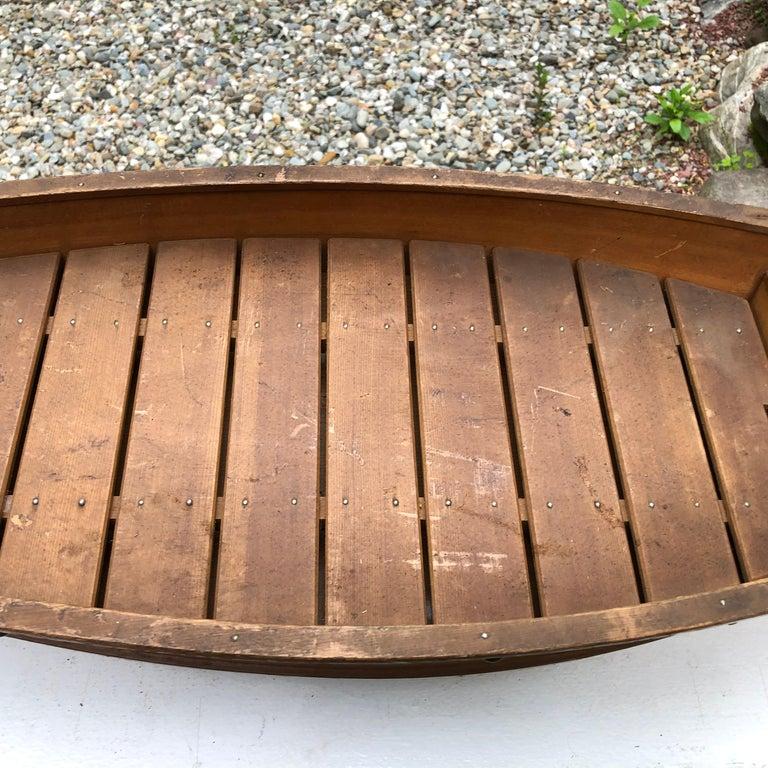 Japanese Big Hand Carved Boat Fune, Ikebana or Sushi Anyone For Sale 3