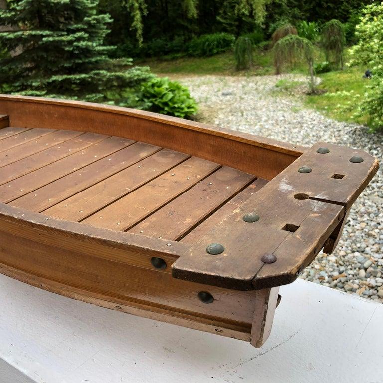 Japanese Big Hand Carved Boat Fune, Ikebana or Sushi Anyone For Sale 4