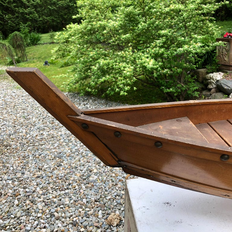 Japanese Big Hand Carved Boat Fune, Ikebana or Sushi Anyone For Sale 6