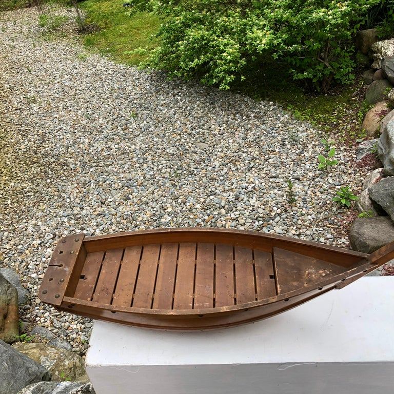 Hand-Carved Japanese Big Hand Carved Boat Fune, Ikebana or Sushi Anyone For Sale