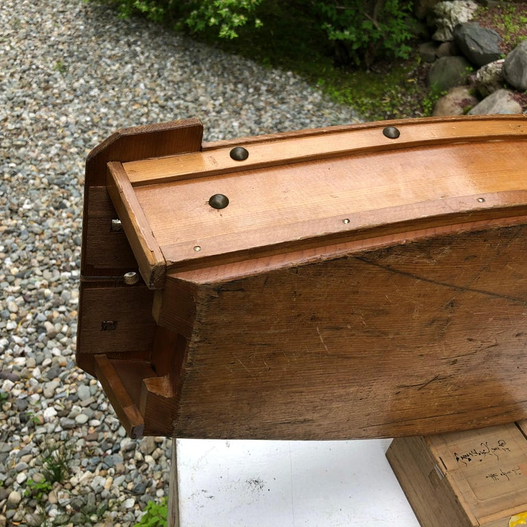 20th Century Japanese Big Hand Carved Boat Fune, Ikebana or Sushi Anyone For Sale