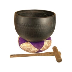 Japanese Big Antique Meditation Bell, Beautiful Serene Sound