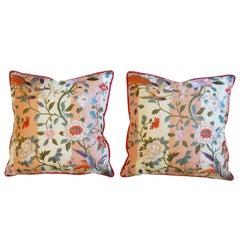 Japanese Bird Motif Throw Pillows