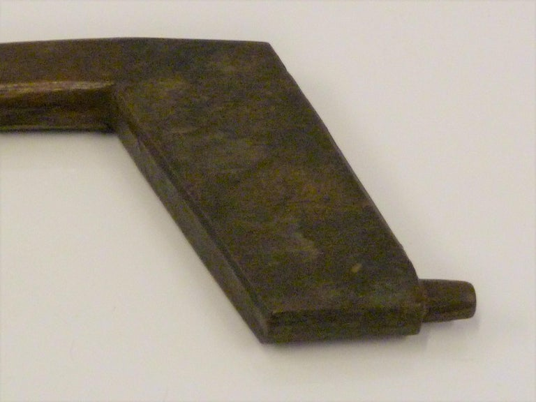 Japanese Blacksmith Tongs and Woodcarver Gouge Chisel, Early 20th Century For Sale 4