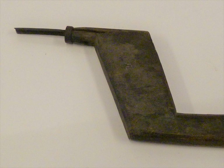 Japanese Blacksmith Tongs and Woodcarver Gouge Chisel, Early 20th Century For Sale 5