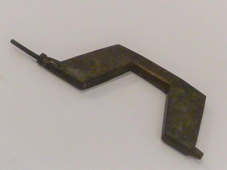 Japanese Blacksmith Tongs and Woodcarver Gouge Chisel, Early 20th Century For Sale 2